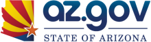 az.gov logo with signature and blue text